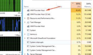 WMI Provider Quick solution of Host High CPU Usage on Windows 10