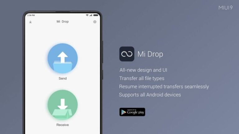 Mi Drop for PC - Download On Windows 7, 8, 10 and MAC