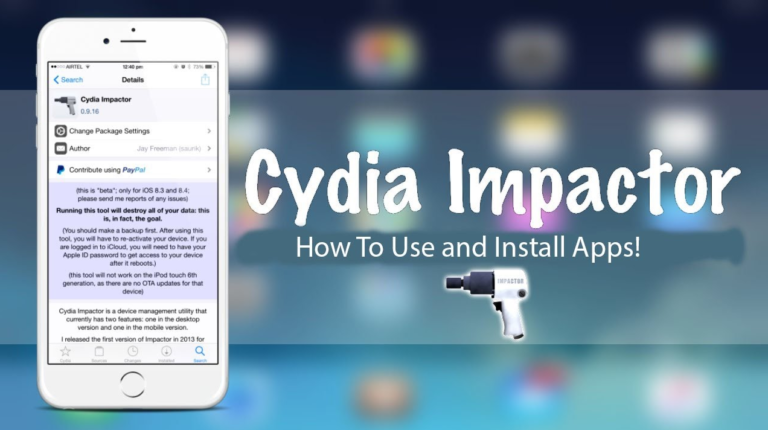 Cydia Impactor For PC - Download on Windows 7, 8, 10 and MAC